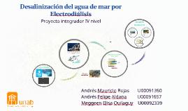 Desalinización del agua de mar por Electrodiálisis