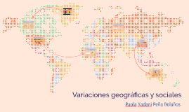 Variedades geográficas de la lengua
