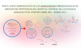 PERFIL SOCIO DEMOGRÁFICO DE LAS ADOLECENTES EMBARAZADAS EN E