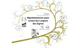 Représentation pour toutes les langues des signes