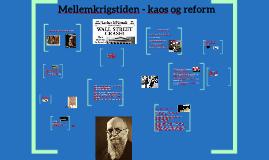 Mellemkrigstiden. Krise og Socialreform