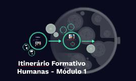 Itinerário Formativo - 2018