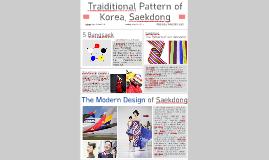 Traiditional Pattern of Korea, Saekdong