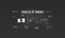 SOURCES OF ENERGY - SUMMARY