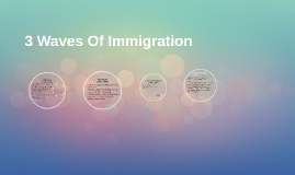 3 Waves Of Immigration