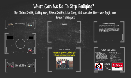 What Can We Do To Stop Bullying?