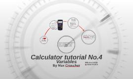 Calculator tutorial No.4
