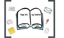 Copy of Mga Uri ng Sulatin