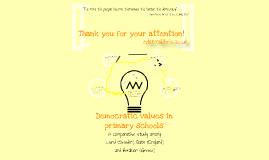 Democratic values in primary schools: A comparative study