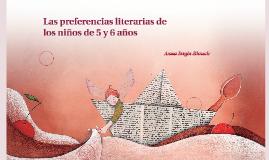 Las preferencias literarias de los niños de 5 y 6 años