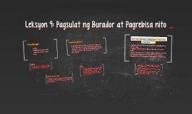 Copy of Leksyon 9: Pagsulat ng Burador at Pagrebisa nito