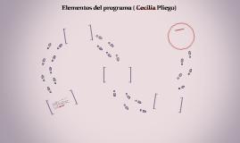 Elementos del programa ( Cecilia Pliego)