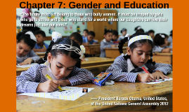 Chapter 7: Gender and Education