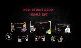 How to save money - Simple tips