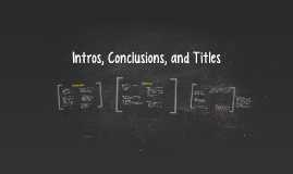 Intros, Conclusions, and Titles