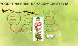 yogurt de yacon a base stevia