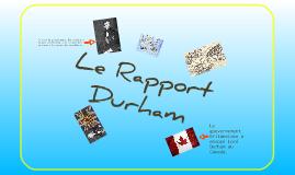Le Rapport Durham