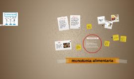 monotonia alimentaria