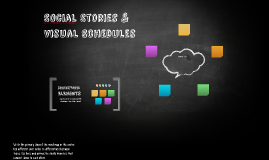 SOcial Stories & Visual Schedules