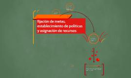 Copy of fijación de metas, establecimiento de políticas y asignación