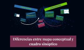 Diferencias entre mapa conceptual y cuadro sinóptico