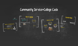Community Service=College Cash