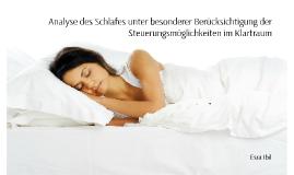 Die Analyse des Schlafes unter besonderer Berücksichtigung d