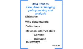 - Data Politics
