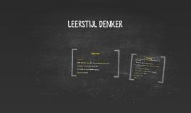 LEERSTIJL DENKER