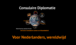DCV Modernisering Consulaire Diplomatie
