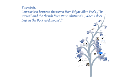 "Two birds: Comparison between the raven from Edgar Allan Poe's ""The Raven"" and the thrush from Walt Whitman's ""When Lilacs Last in the Dooryard Bloom'd"""