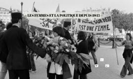 Les femmes et la politique depuis 1945