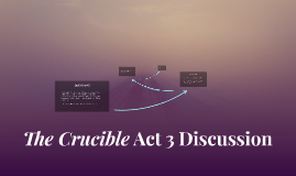 The Crucible Act 3 Discussion