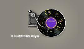 13. Qualitative Data Analysis