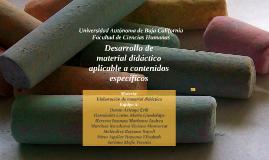 Desarrollo de material didáctico aplicable a contenidos específicos