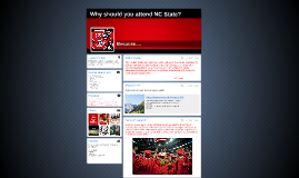 Why should you attend NC State?