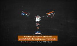 Copy of Psicologia do Esporte e Internet: possibilidades formativas