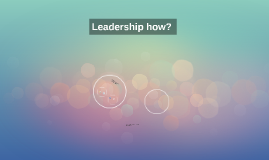 What is leadership? :S