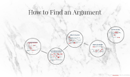 How to Find an Argument