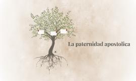 La paternidad apostolica