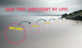 Happ first Monthsary my love