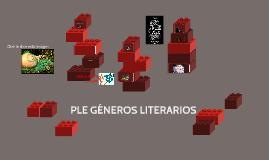 PLE GÉNEROS LITERARIOS