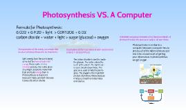 Photosynthesis VS. A Computer