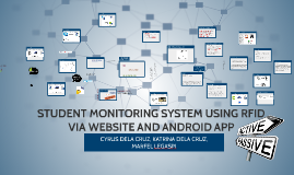 STUDENT MONITORING SYSTEM USING RFID VIA WEBSITE AND ANDROID