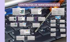 CONTRATOS DE MANTENIMIENTO