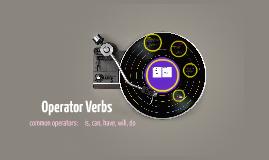 Operator Verbs