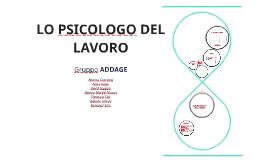 LO PSICOLOGO DEL LAVORO