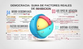 ABSTENCIONISMO FACTORES REALES DE INHIBICIÓN.