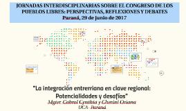 JORNADAS INTERDISCIPLINARIAS SOBRE EL CONGRESO DE LOS PUEBLO