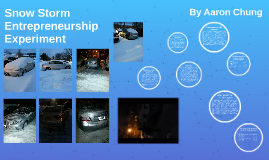 Snow Storm Entrepreneurship Experiment